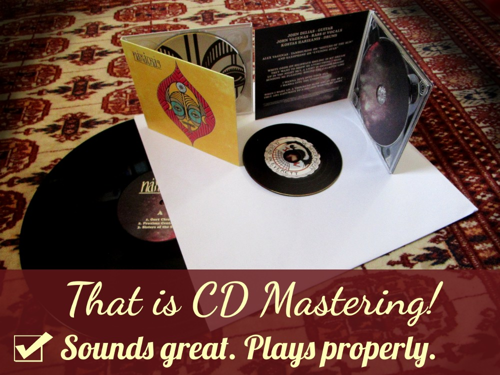 That is CD Mastering! Sounds great. Plays Properly.